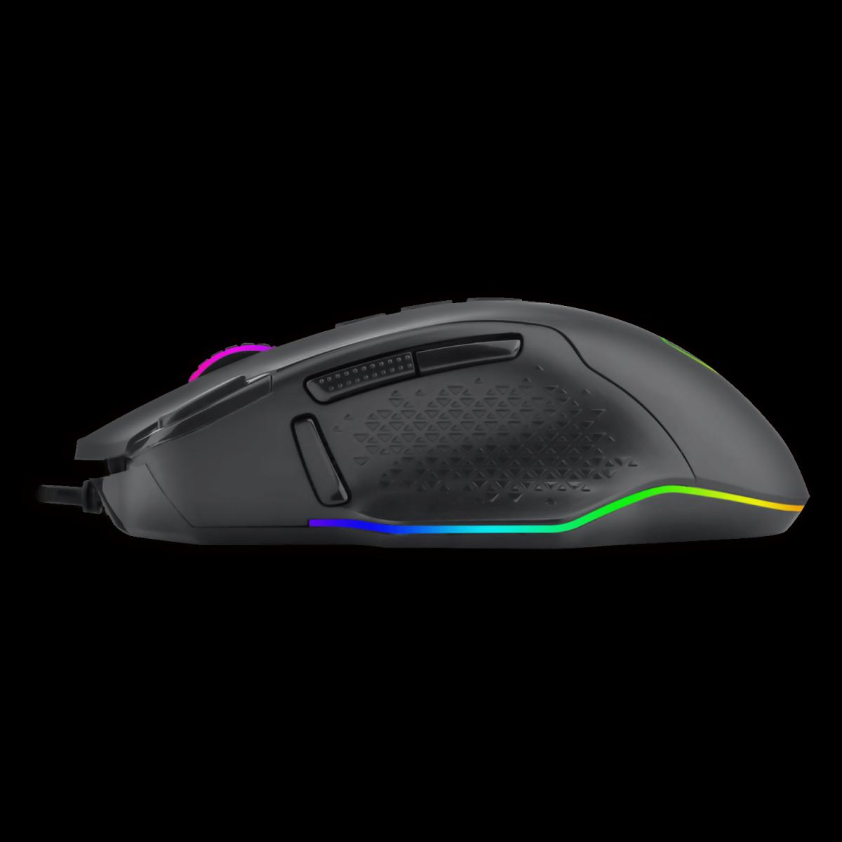 Mouse Gamer T-Dagger Bettle RGB, 8000 DPI, 10 Botões, Black, T-TGM305
