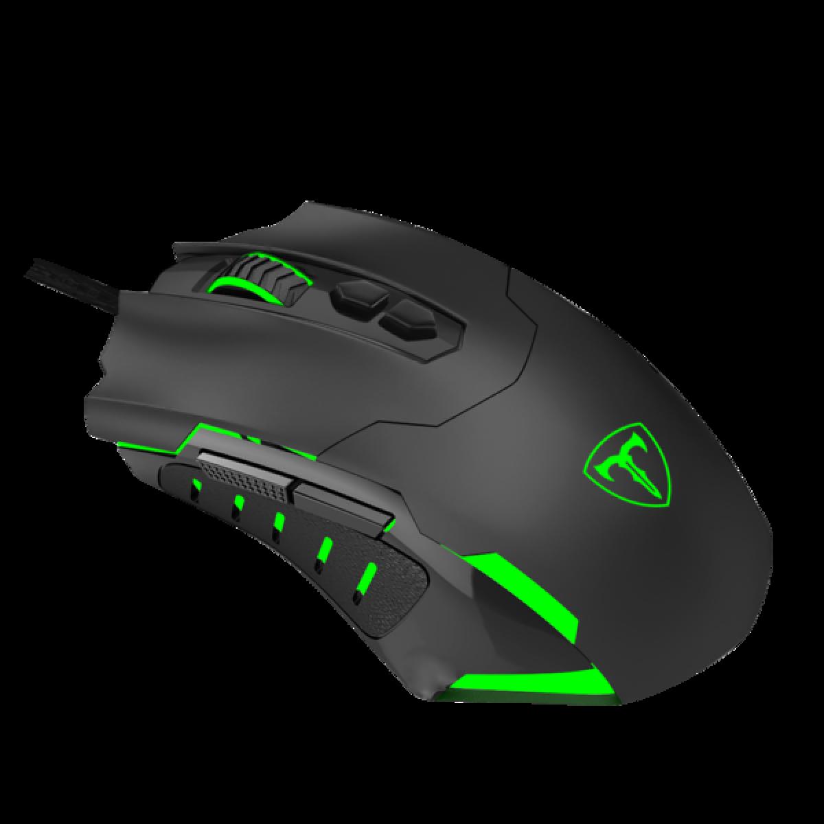 Mouse Gamer T-Dagger Brigadier RGB, 7200DPI, 7 Botões Programáveis, Black, T-TGM206