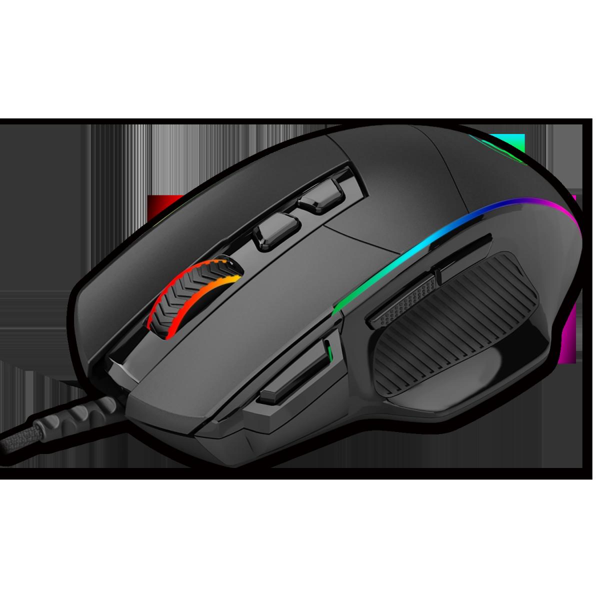 Mouse Gamer T-Dagger Roadmaster RGB, 8000 DPI, 8 Botões, Black, T-TGM307
