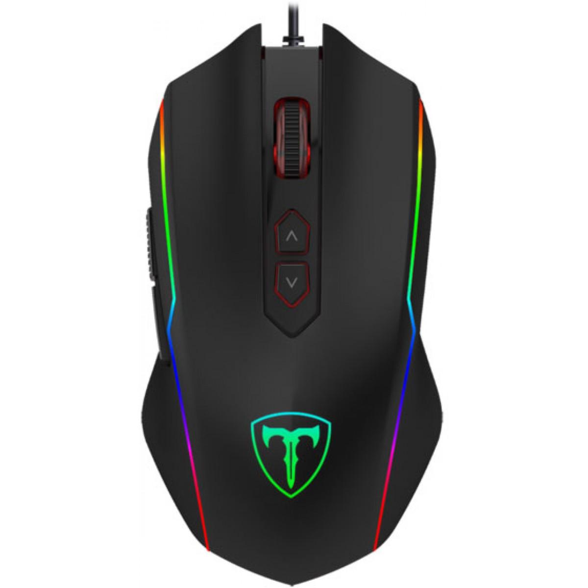 Mouse Gamer T-Dagger Sergeant RGB 4800 DPI, 7 Botões Programáveis, Black