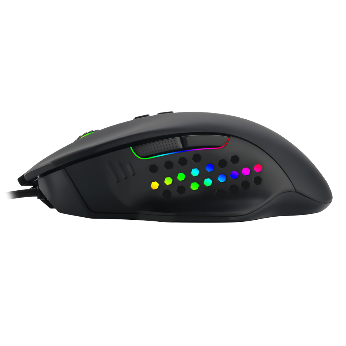 Mouse Gamer T-Dagger Warrant Officer RGB, 4800 DPI, 6 Botões, Black, T-TGM203