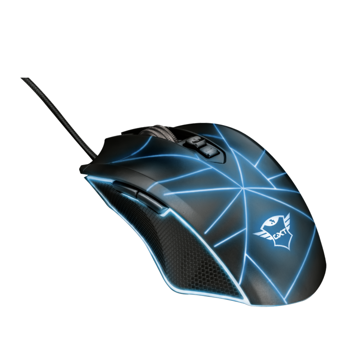 Mouse Gamer Trust, GXT 160 Ture, 4000DPI, 7 Botões, RGB, Black, T22332