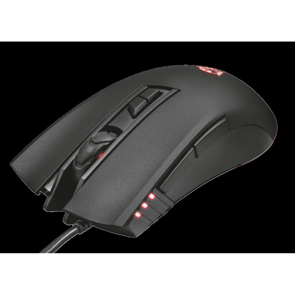 Mouse Gamer Trust  Zeebo LED, 7 botões 3200dpi, GXT121