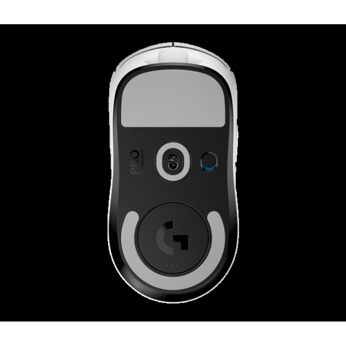Mouse Gamer Wireless Logitech G Pro X Superlight, 25.400 DPI, 6 Botões, White, 910-005941