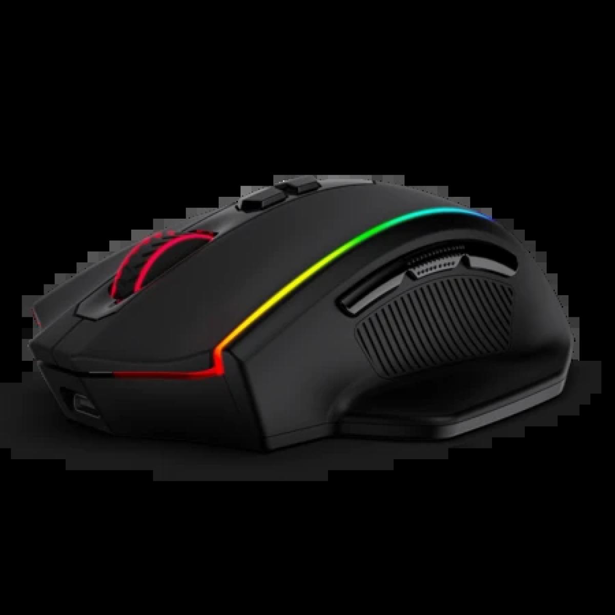 Mouse Gamer Wireless Redragon Vampire Elite, DPI 16.000, 8 Botões, RGB, Black, M686RGB