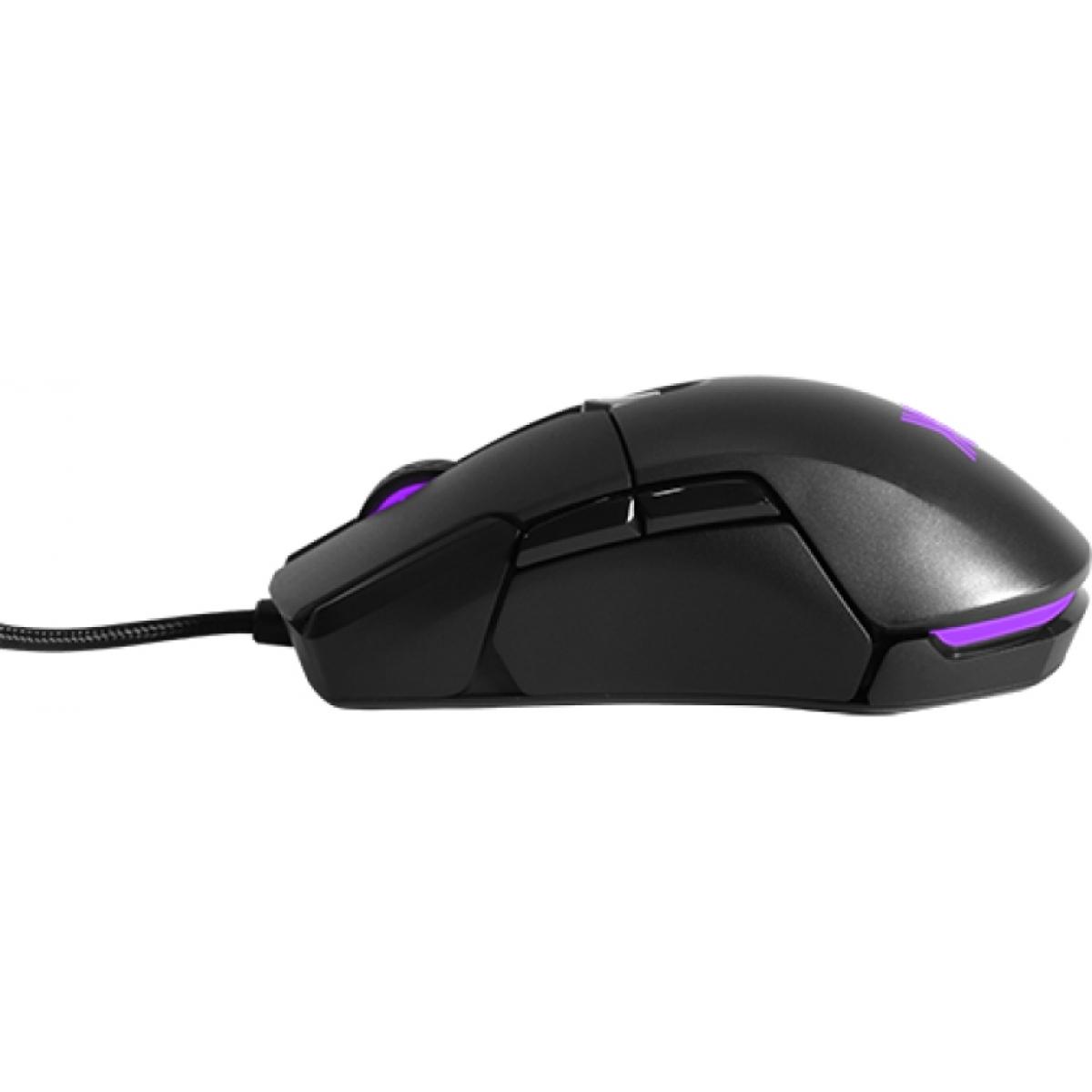 Mouse Gamer Xanova Mensa XM310 6 Botões 5.000 DPI RGB Black