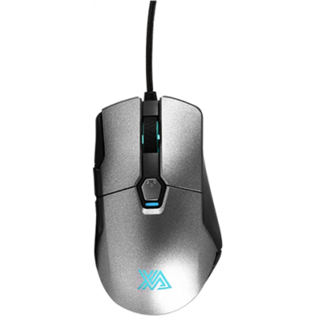 Mouse Gamer Xanova Mensa XM380 Pro 6 Botões 16.000 DPI RGB Black