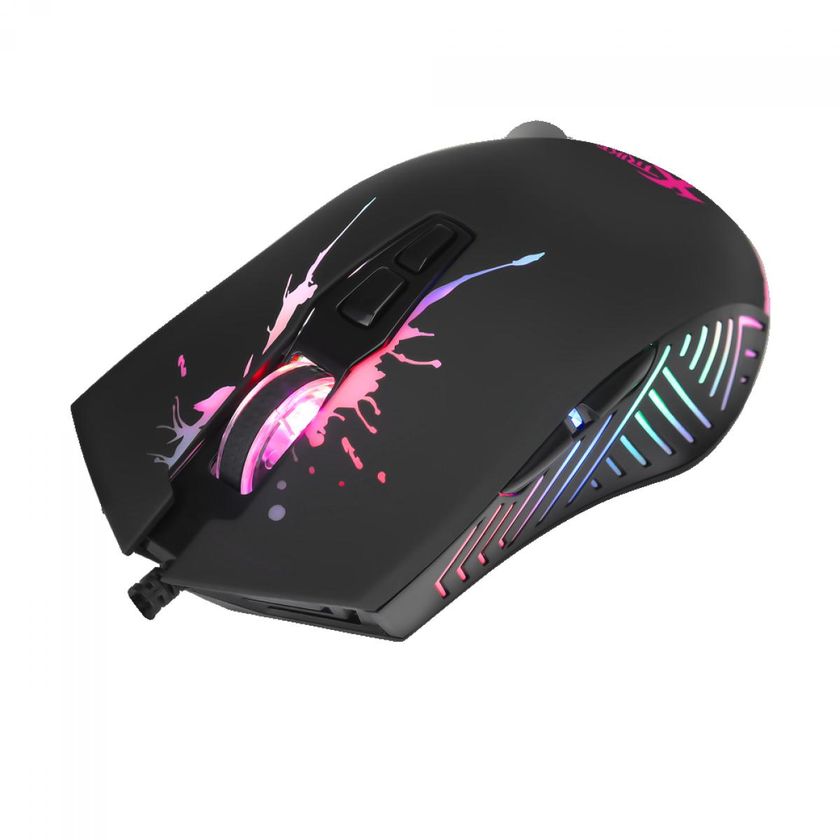 Mouse Gamer Xtrike Me GM-215, 7200DPI, 7 Botões Programáveis, RGB, Black