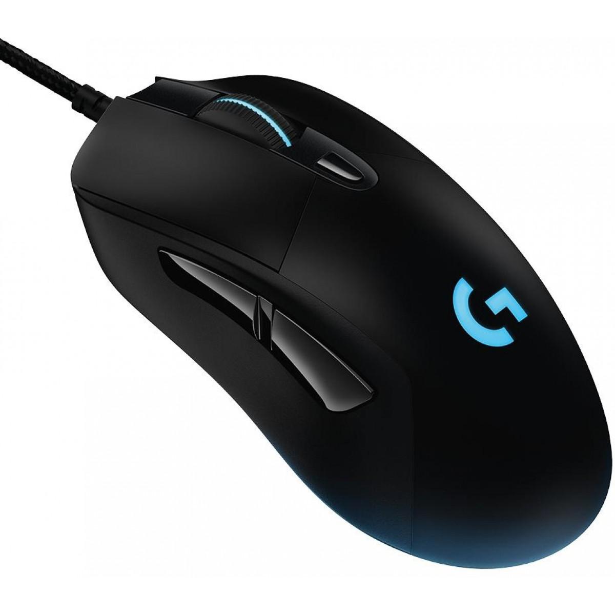 Mouse Logitech Gamer G403 Hero RGB, 6 Botões, 16000 DPI, Black, 910-005631