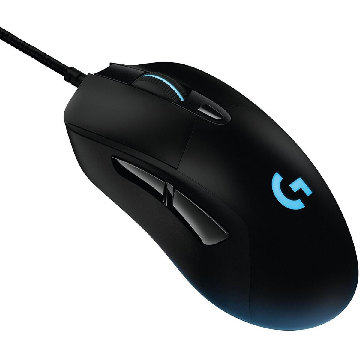 Mouse Logitech Gamer Prodigy G403 RGB 6 Botões 12000 DPI Ajuste de Peso Black