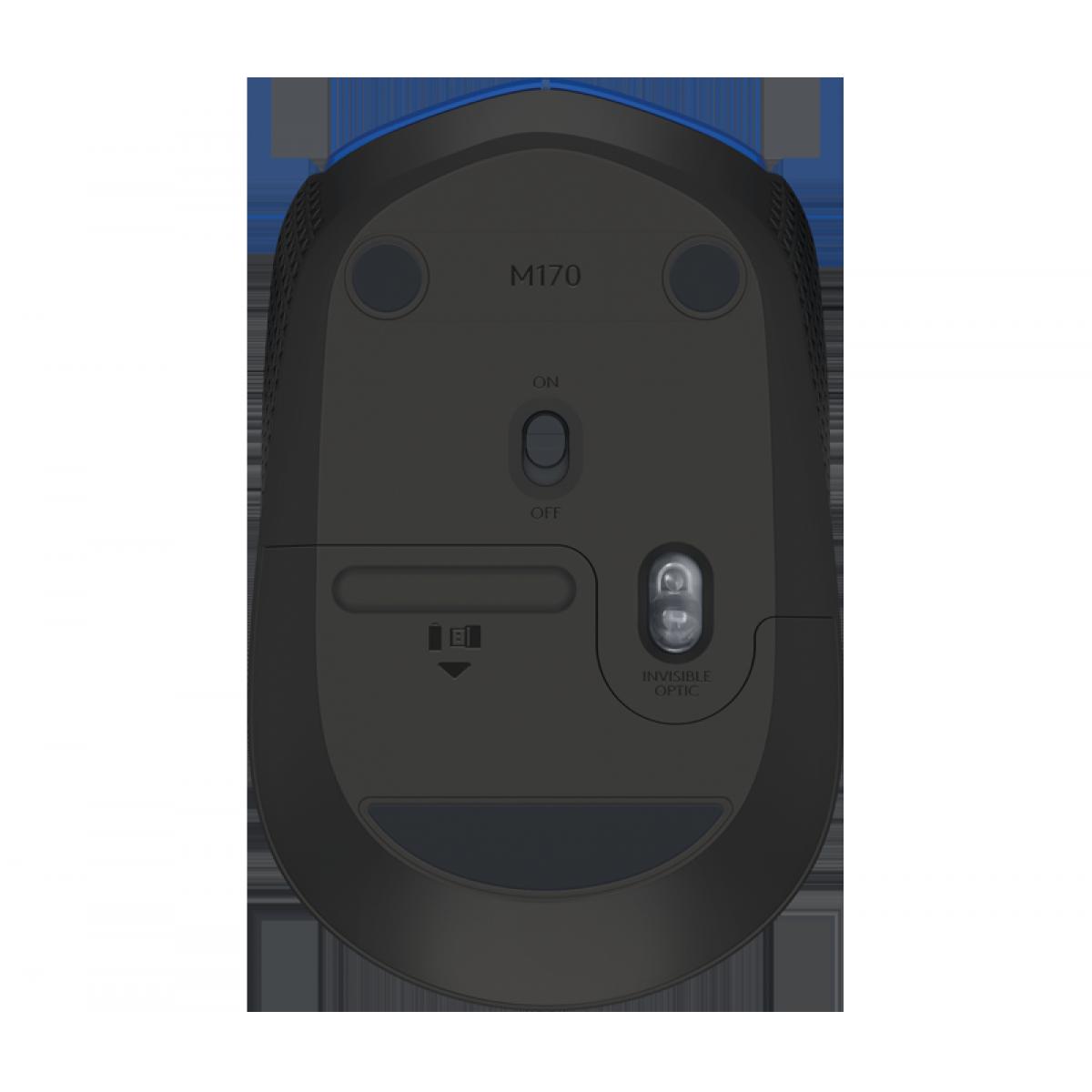 Mouse Logitech, M170 Wireless, Azul, 910-004800