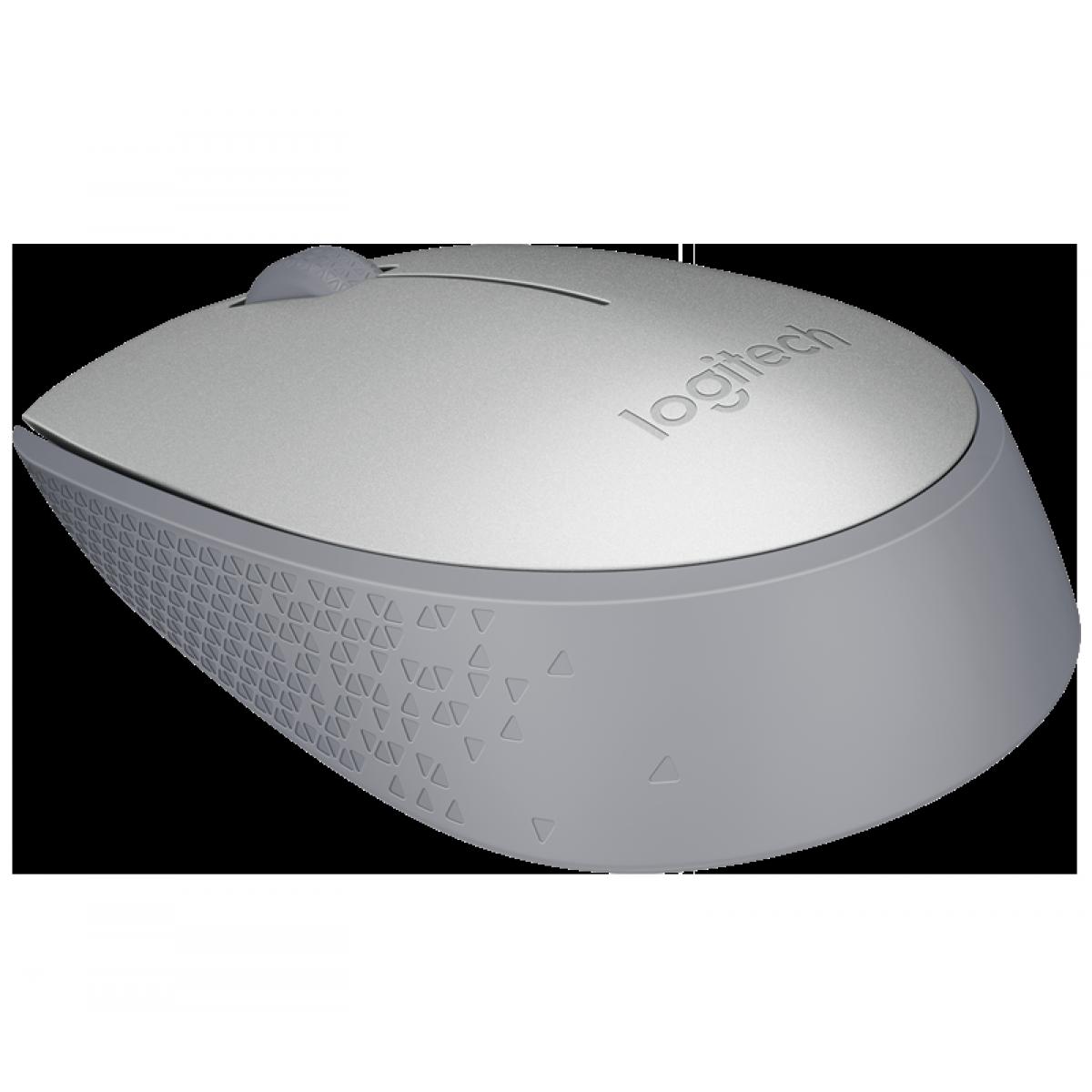 Mouse Logitech, M170 Wireless, Cinza, 910-004940
