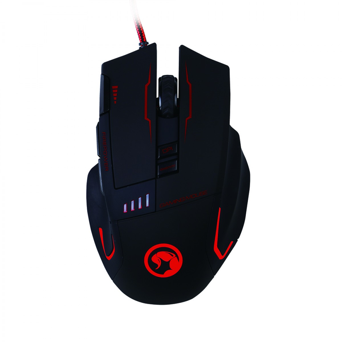 Mouse Marvo Gamer G909H Wired, 8 Botões 4800 DPI LED RGB 7 Cores