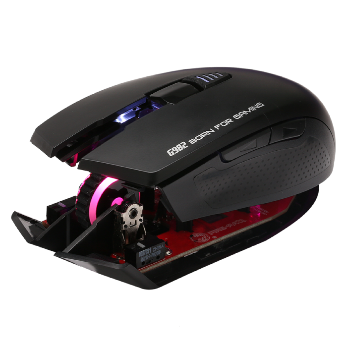 Mouse Marvo Gamer G982 Wired, 6 Botões, 5000 DPI, LED RGB 7 Cores
