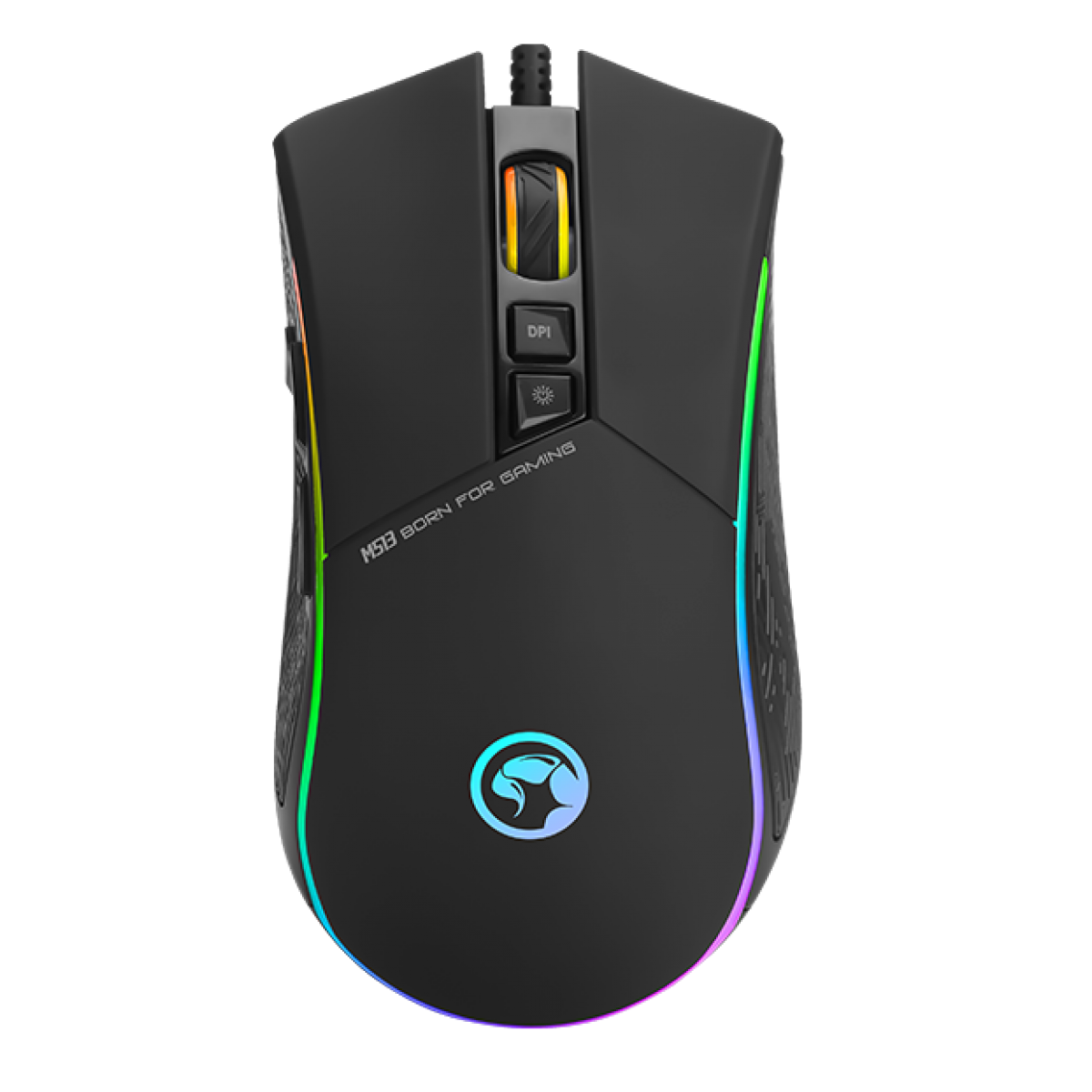 Mouse Marvo Gamer M513 7 Botões 3200 DPI LED Rgb Rainbow