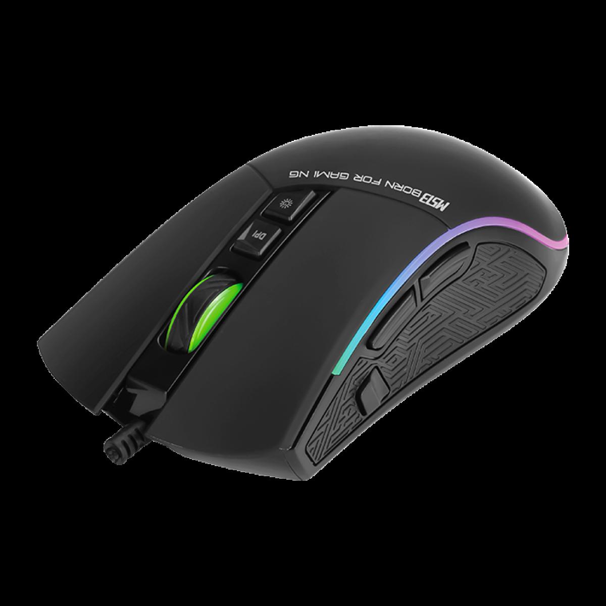 Mouse Marvo Gamer M513 8 Botões 3200 DPI LED Rgb Rainbow