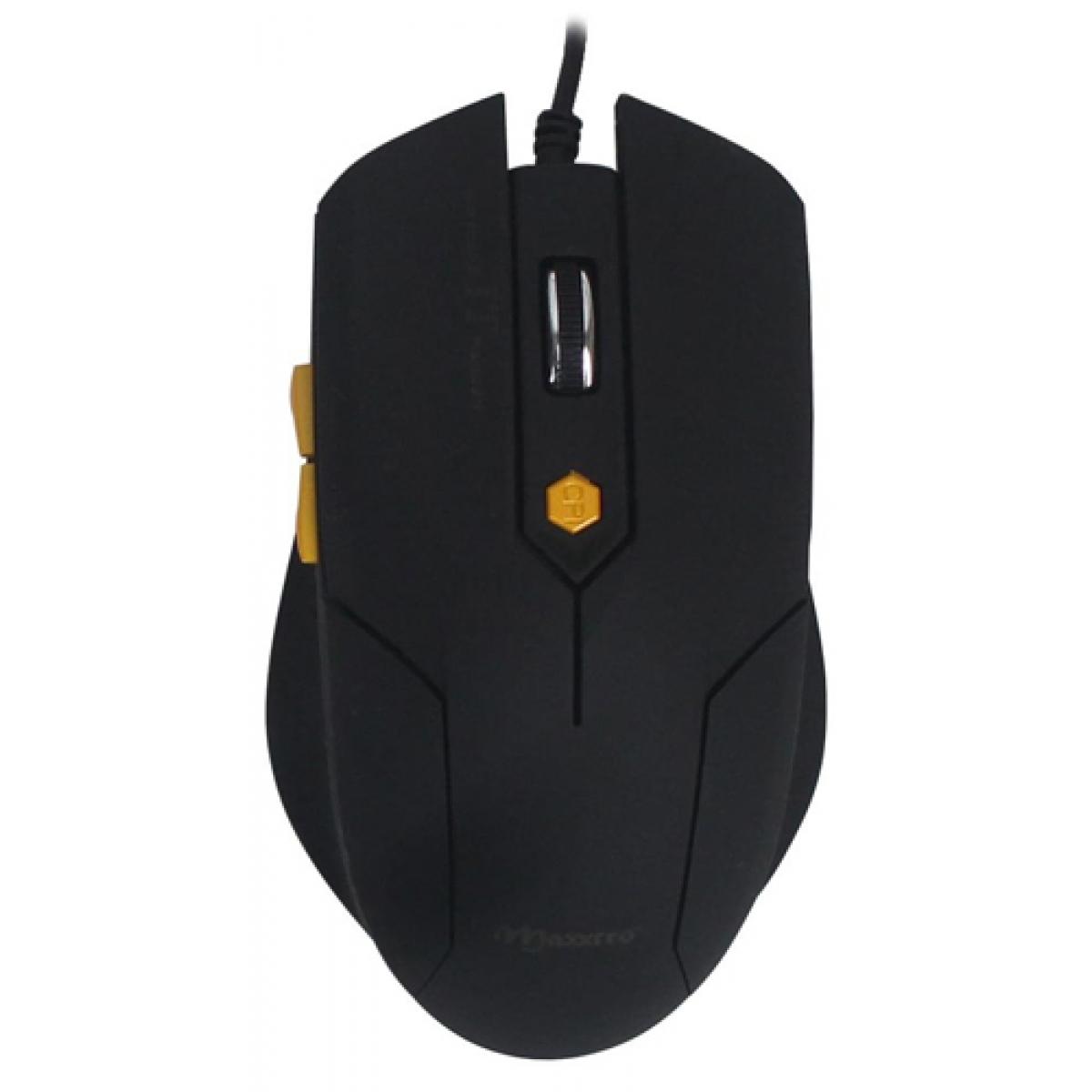 Mouse Óptico Maxxtro JM-1201/BK USB 6 Botões 1600 DPI Black