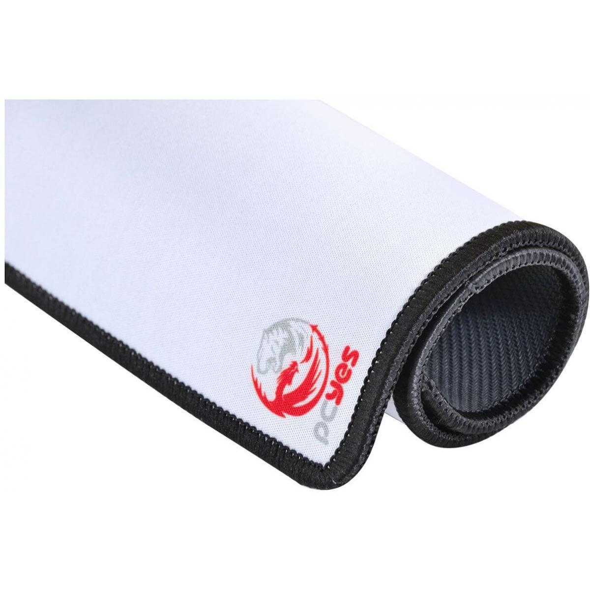 Mouse Pad Gamer PCyes Huebr Branco Standard Borda Costurada HBS36X30
