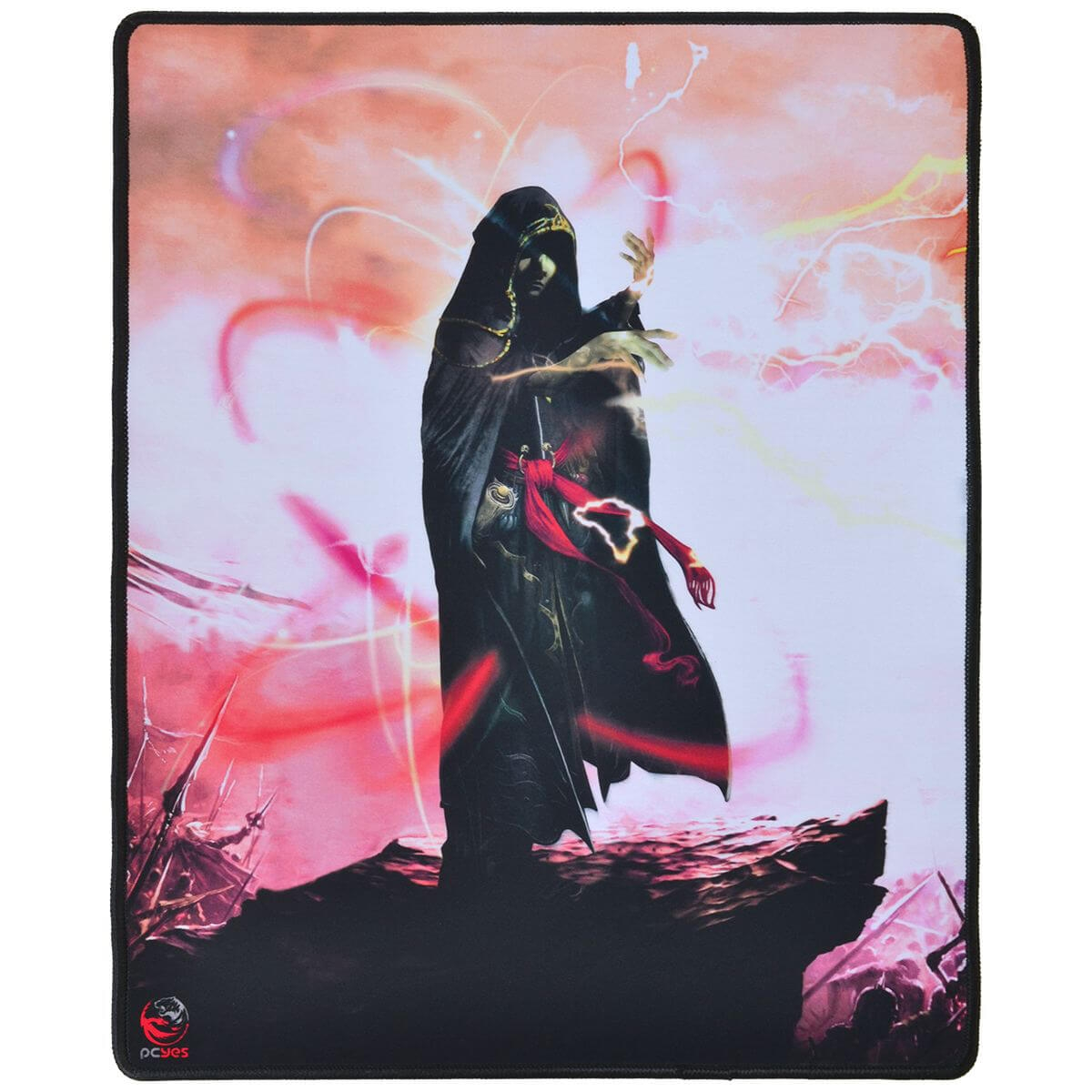 Mouse Pad Gamer PCyes RPG Wizard Borda Costurada RW40X50