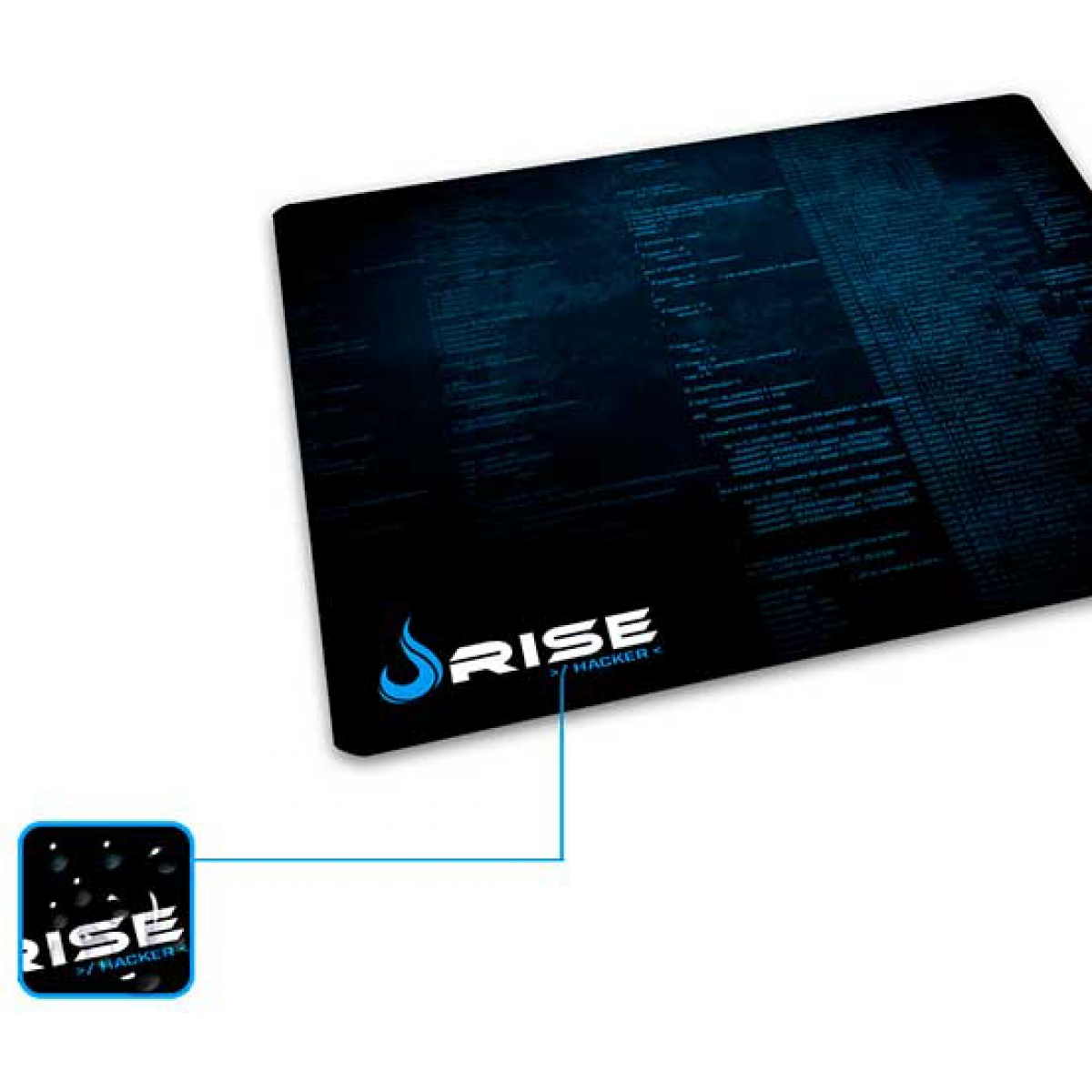 Mouse Pad Gamer Rise Hacker RG-MP-00-HCK Compacto
