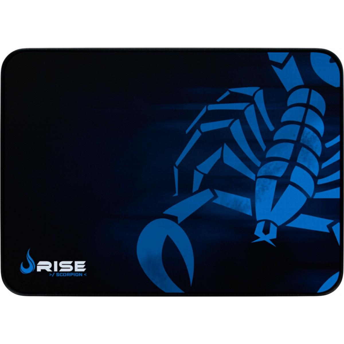 Mouse Pad Gamer Rise Scorpion, Médio, Borda Costurada, RG-MP-04-SK