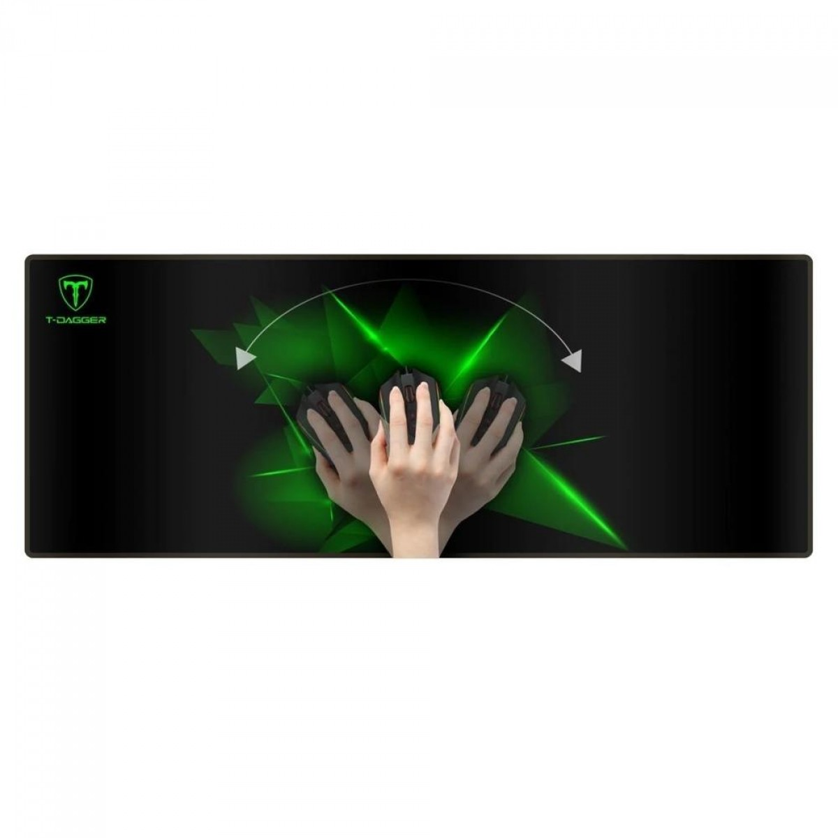Mouse Pad Gamer T-Dagger Geometry G, Grande (780x300mm) - T-TMP301