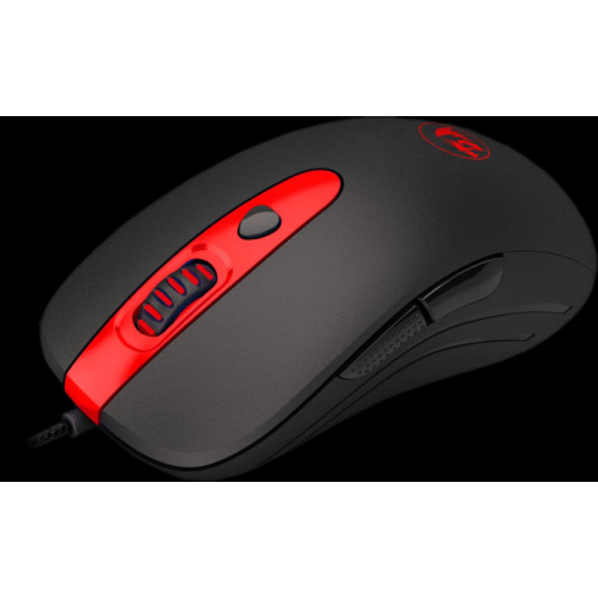 Mouse Gamer Redragon Cerberus M703 RGB, 7200 DPI, 6 Botões, Black