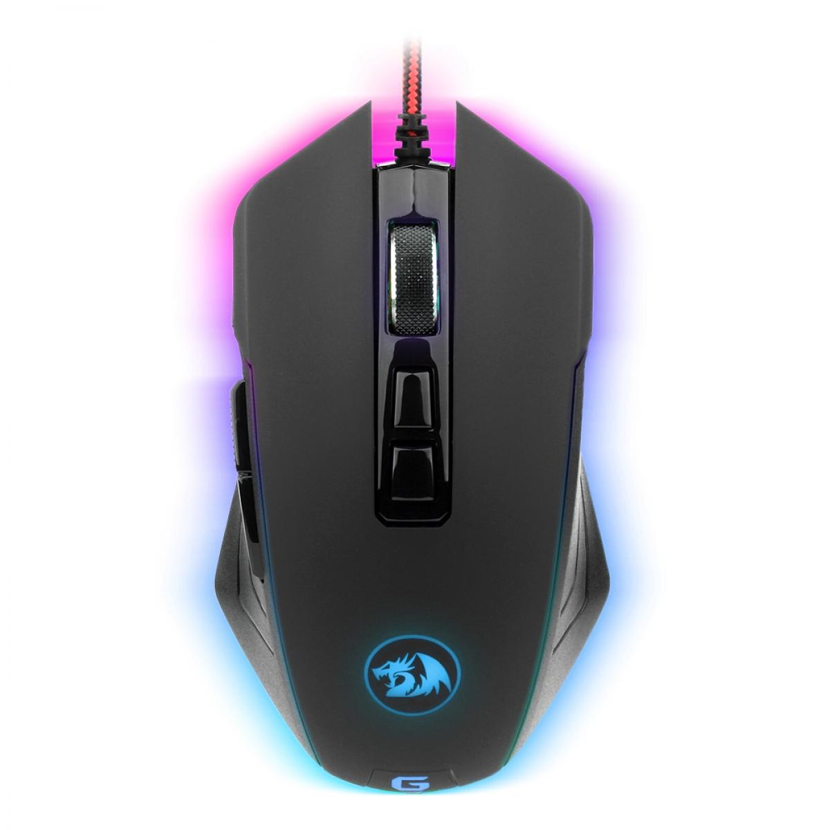 Mouse Gamer Redragon Dagger Chroma M715 RGB, 10000 DPI, 7 Botões Programáveis, Black
