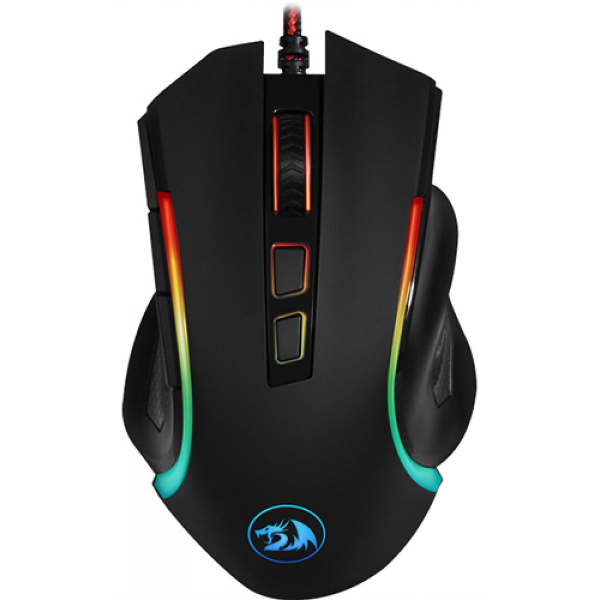 Mouse Redragon Gamer Griffin M607 RGB, 7200 DPI, 6 Botões, Black