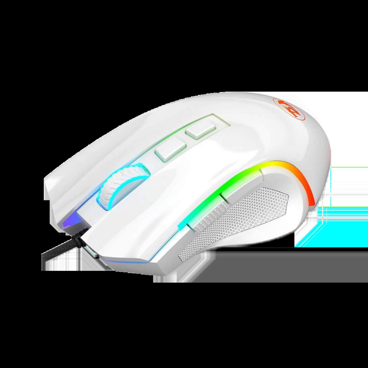 Mouse Redragon Gamer Griffin M607 RGB, 7200 DPI, 6 Botões, White