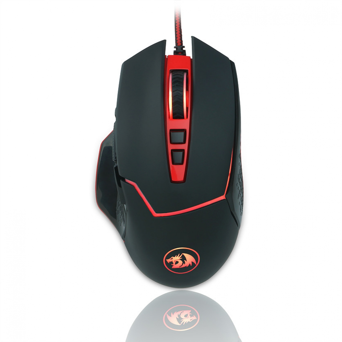 Mouse Gamer Redragon Inspirit M907 RGB, 1400 DPI, 9 Botões, Black