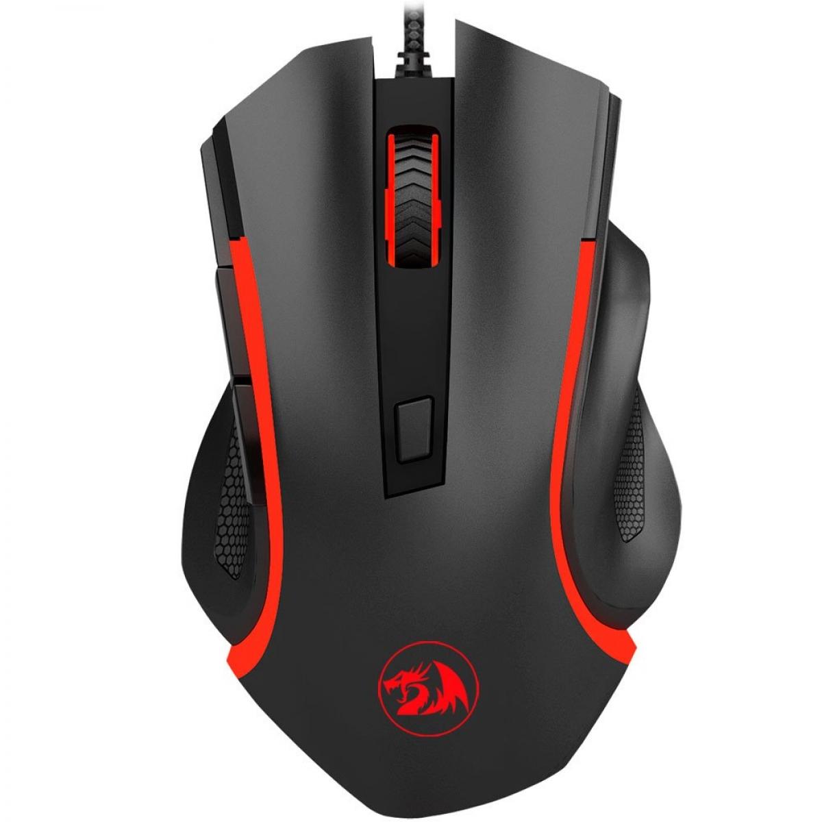 Mouse Gamer Redragon Nothosaur M606, 3200 DPI, 6 Botões Programáveis