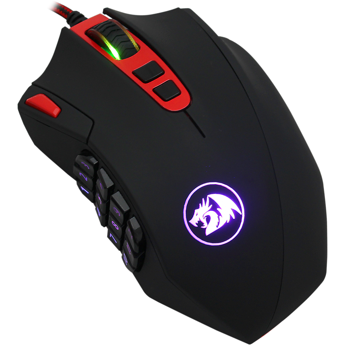 Mouse Gamer Redragon Perdition M901, 16400 DPI, 18 Botões, Black