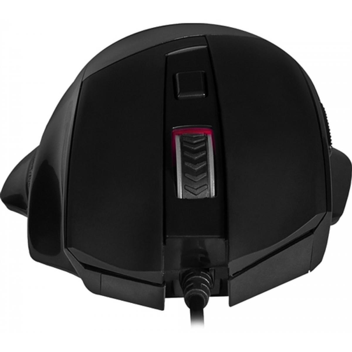 Mouse Gamer Redragon Phaser M609 RGB, 3200 DPI, 6 Botões, Black