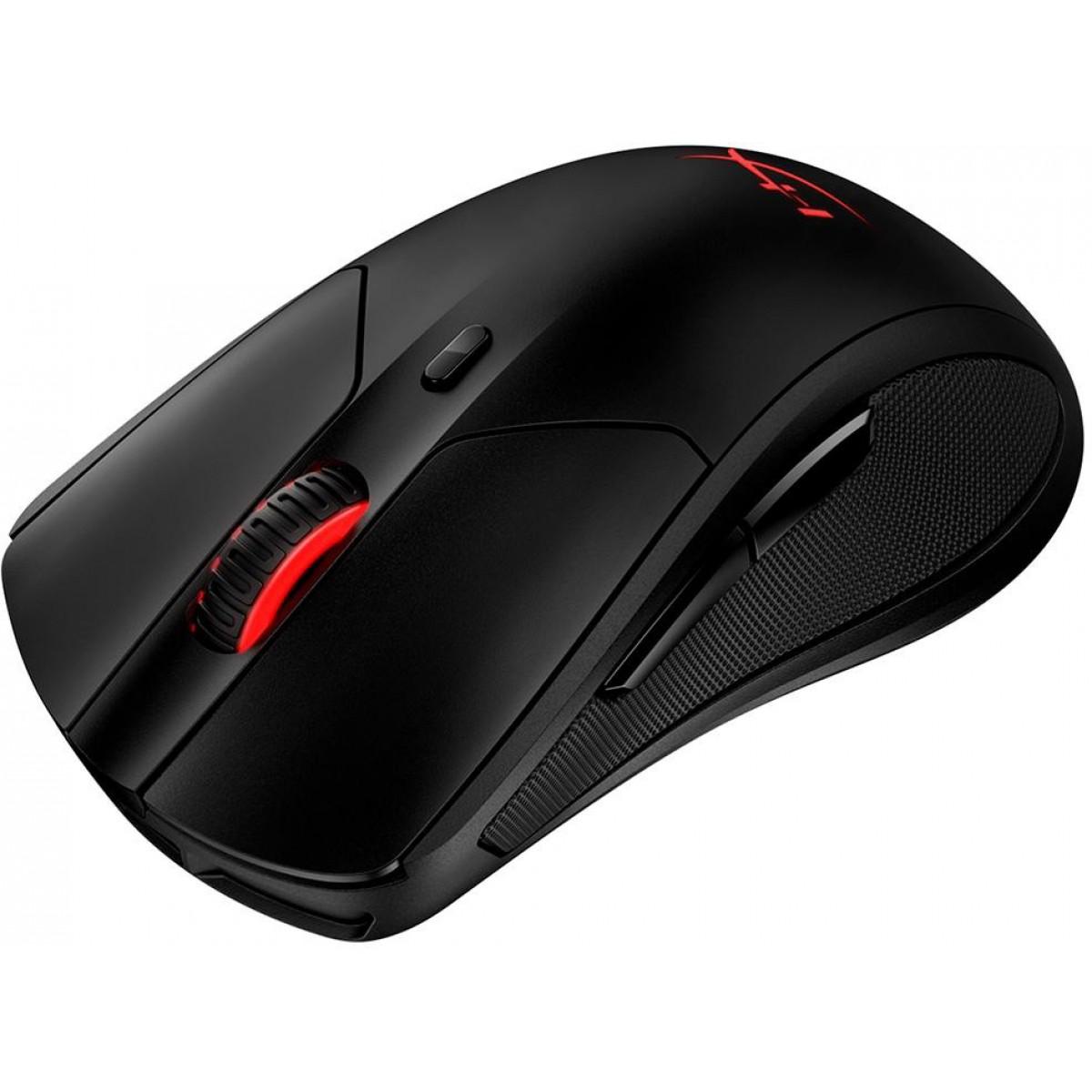 Mouse Sem Fio Hyperx Pulsefire Dart, RGB, 16000 DPI, 6 Botões, Preto, HX-MC006B