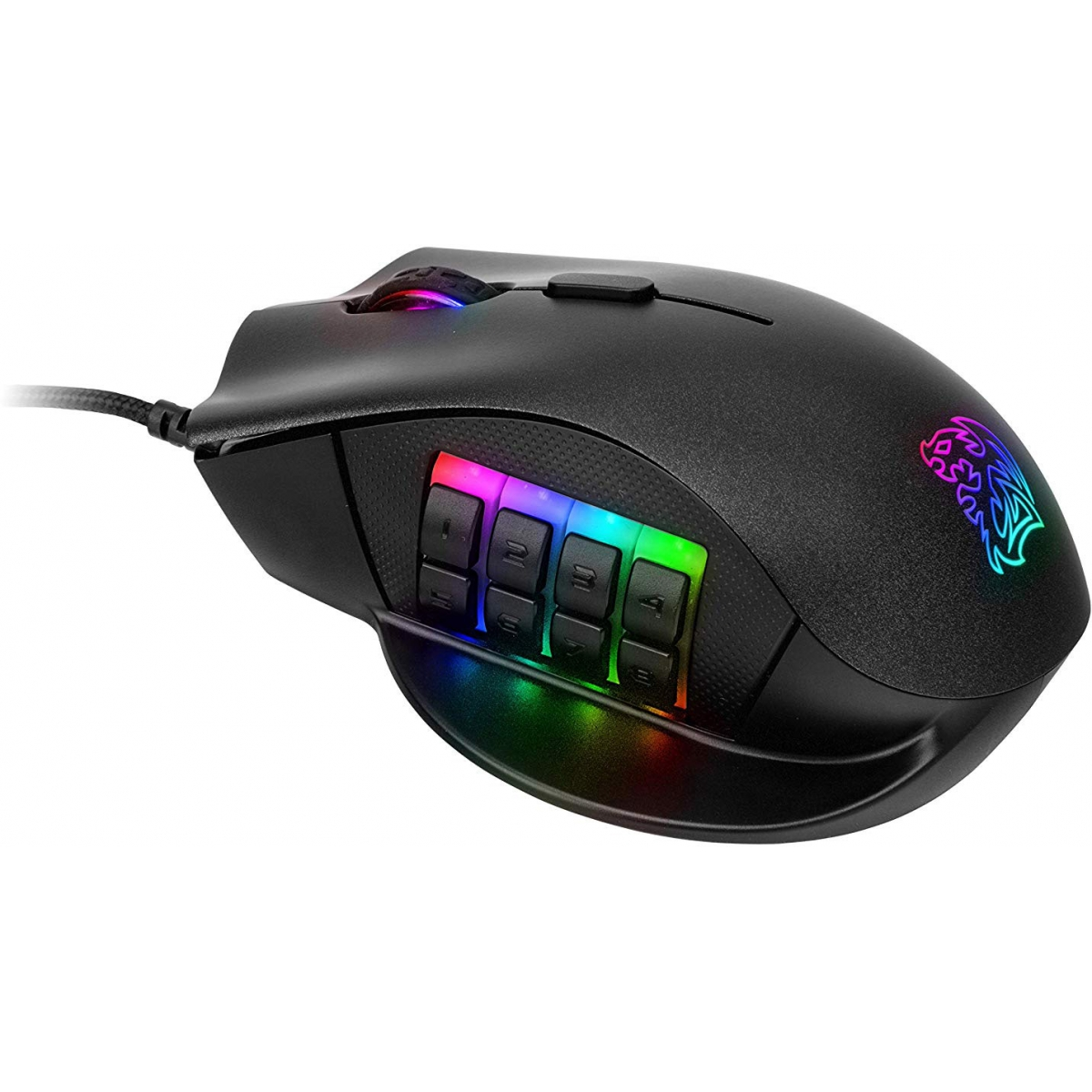 Mouse Gamer Thermaltake TT Esports Nemesis Optical RGB, MO-NMS-WDOOBK-01