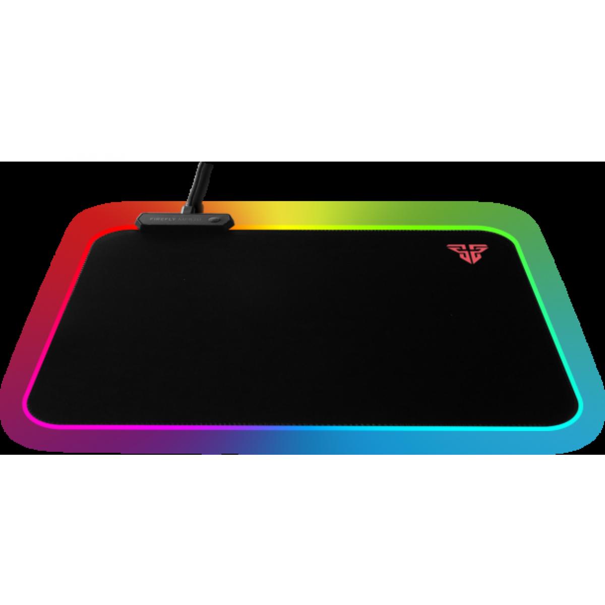 Mousepad Gamer Fantech Firefly, Black, RGB, 350x250mm, MPR351s