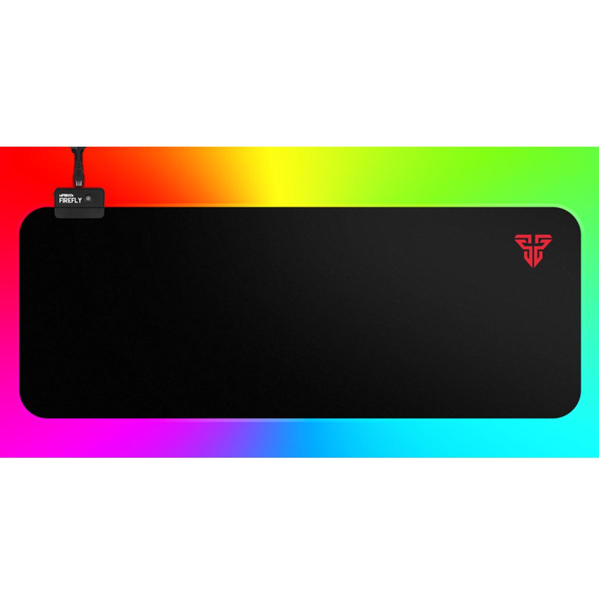 Mousepad Gamer Fantech Firefly, Black, RGB, 800x300mm, MPR800s