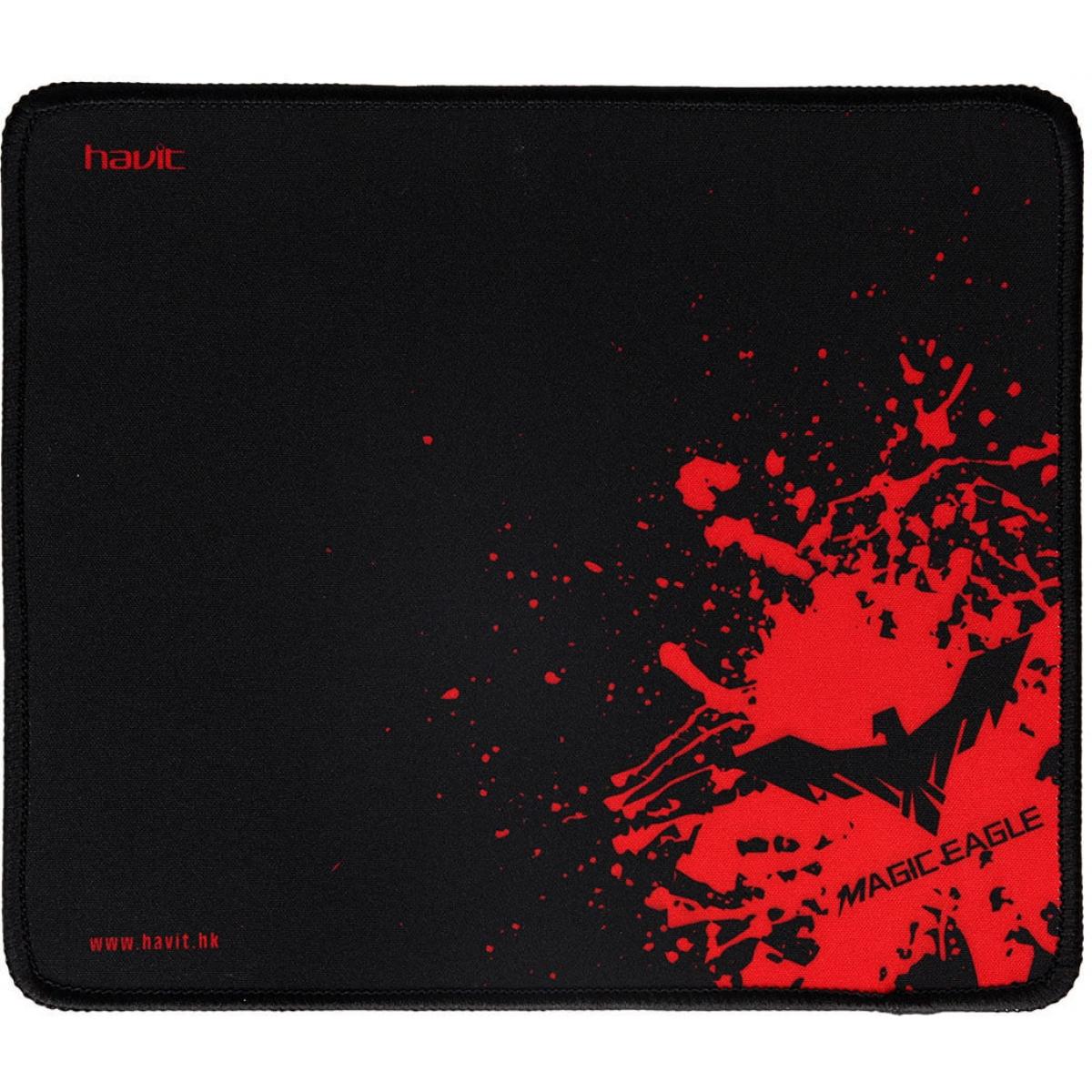 Mousepad Gamer Havit Magic Eagle, Black-Red, HV-MP837