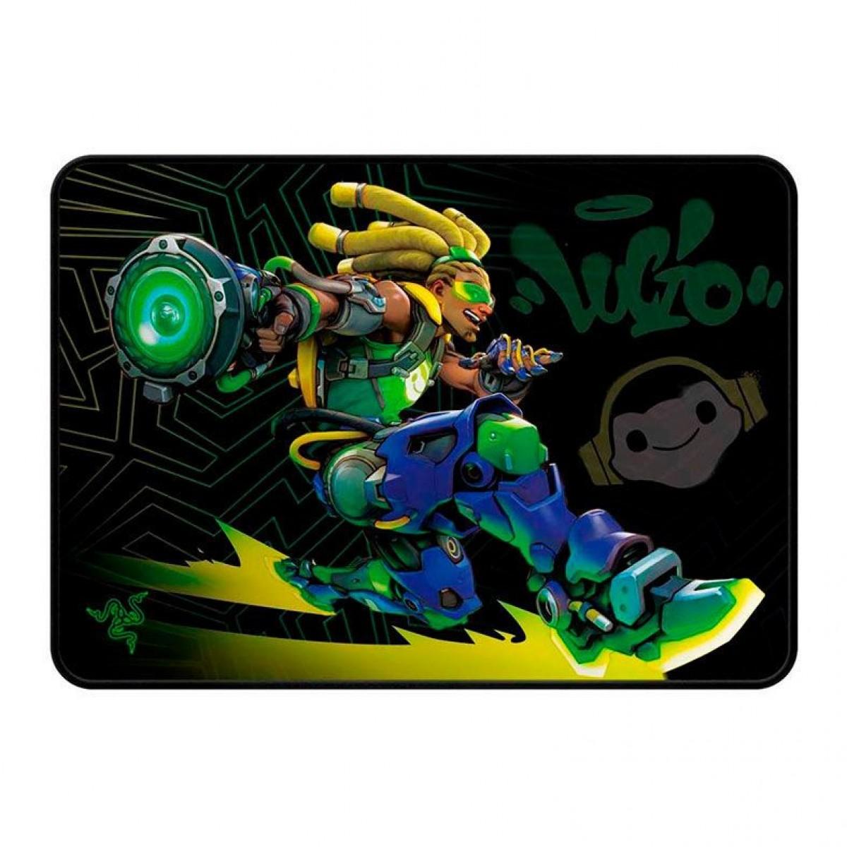 Mousepad Gamer Razer Goliathus Overwatch Lúcio Edition, Speed, Médio (355x254mm), RZ02-02930200-R3M1