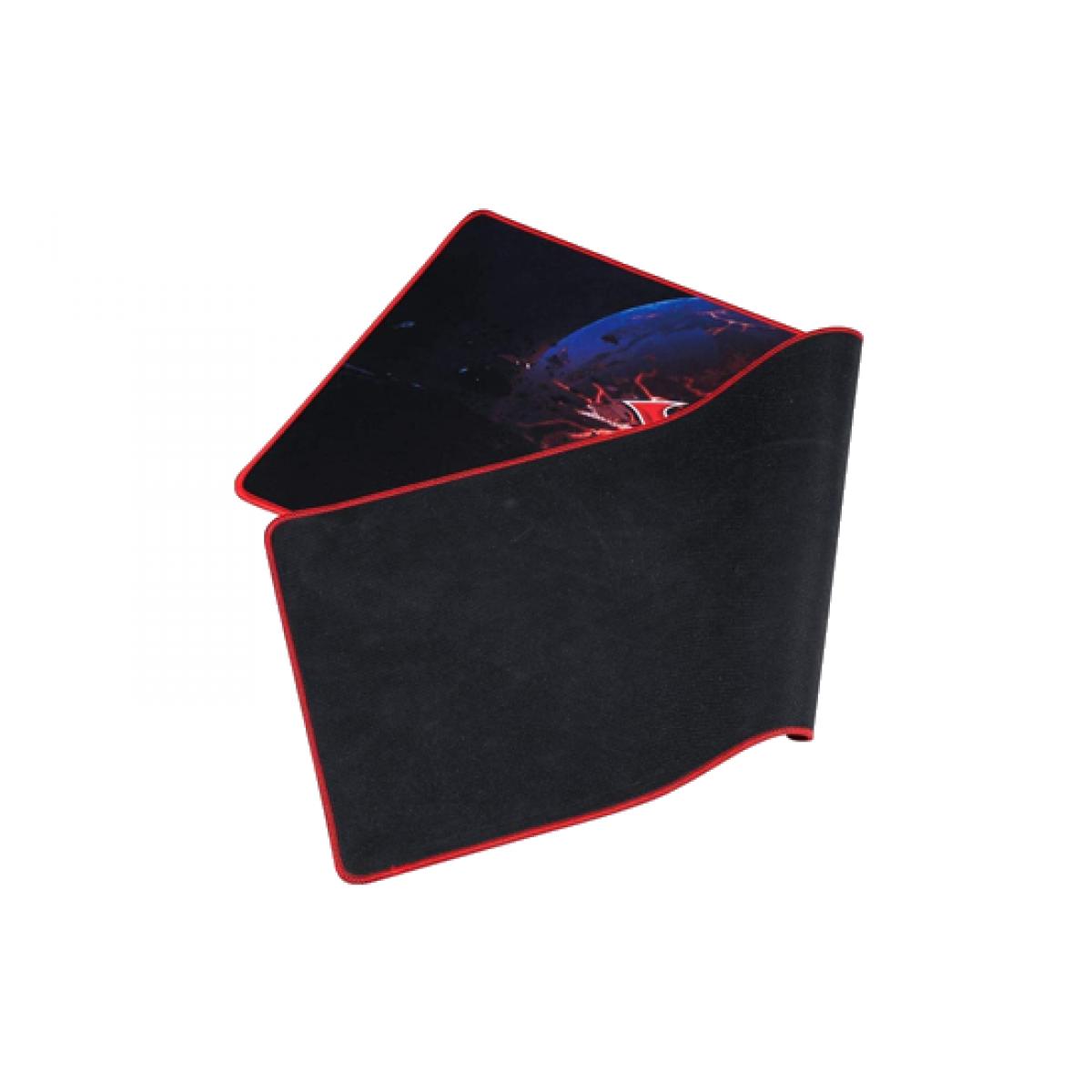 Mousepad Gamer XTRIKE-ME MP-204, Grande, Prova D'agua, Black/Red, MP204