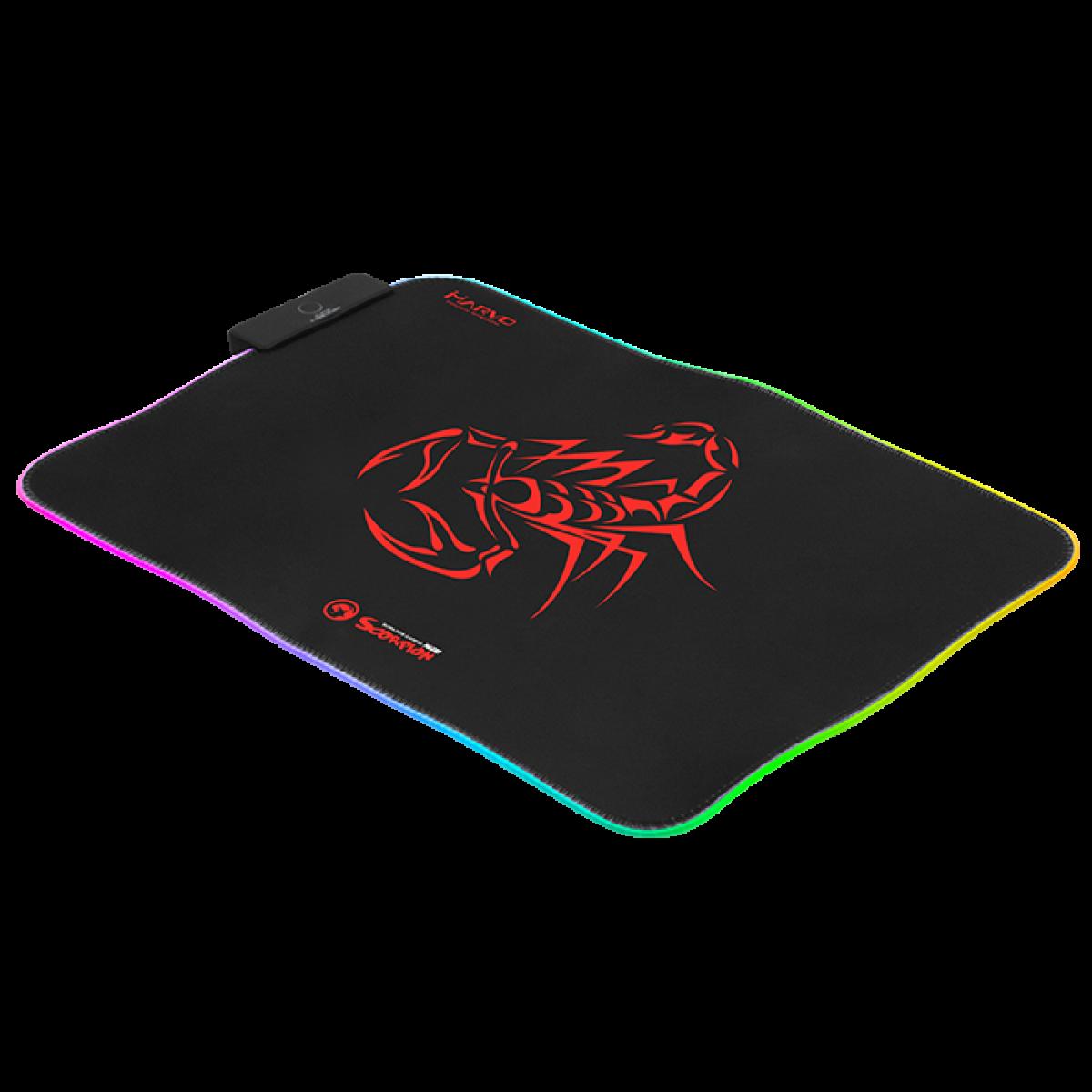 Mousepad Marvo Gamer Scorpion, Speed, Grande, RGB 7 Cores, MG08