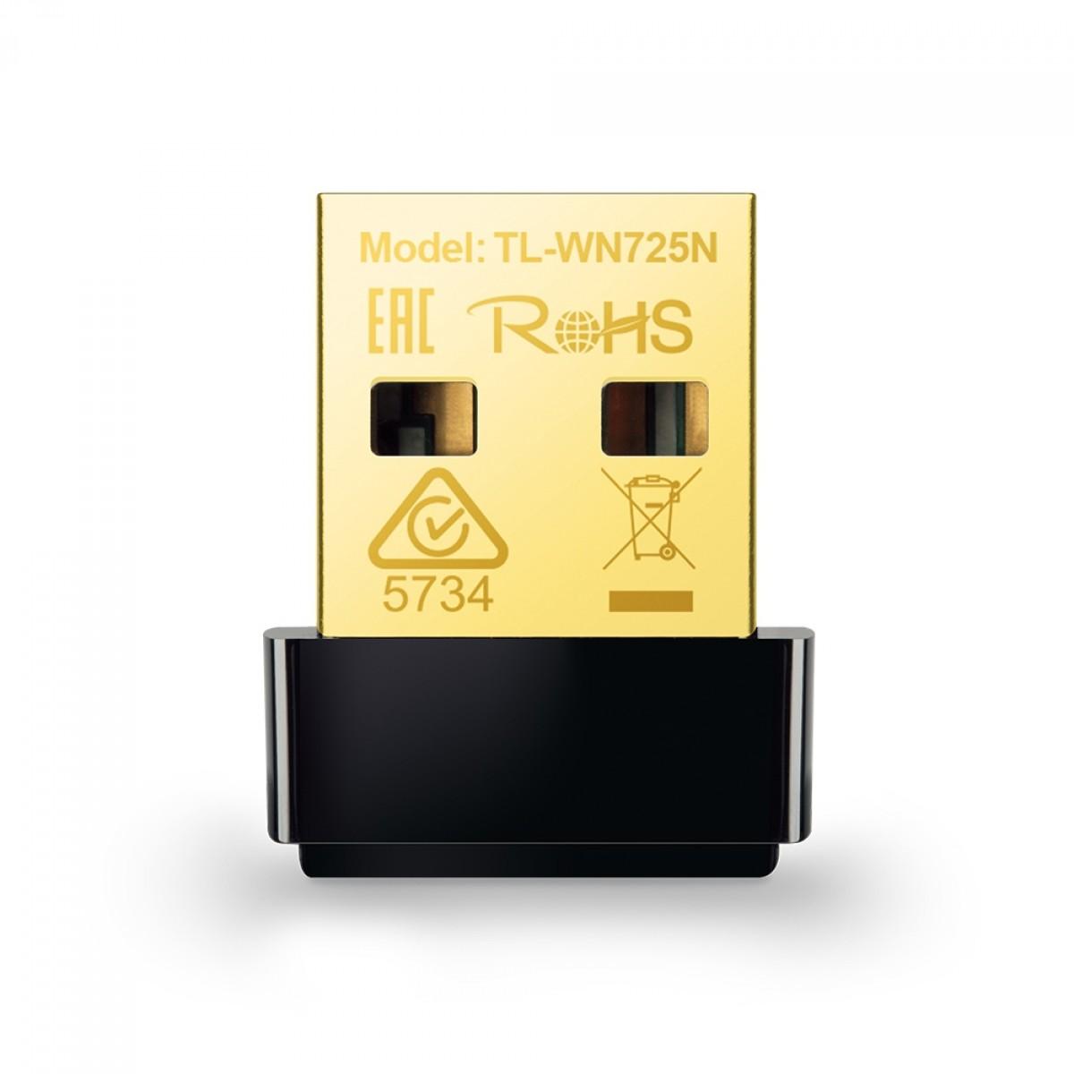 Nano Adaptador  Wireless N USB TP-Link, 150Mbps, TL-WN725N