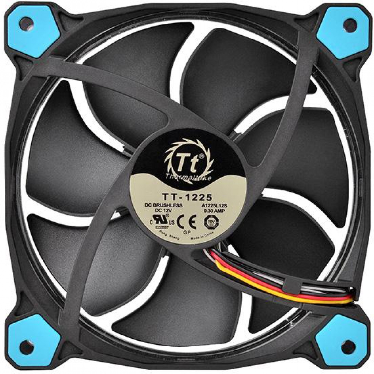 Kit Fan com 3 Unidades Thermaltake Riing 12, LED Blue 120mm, CL-F055-PL12BU-A