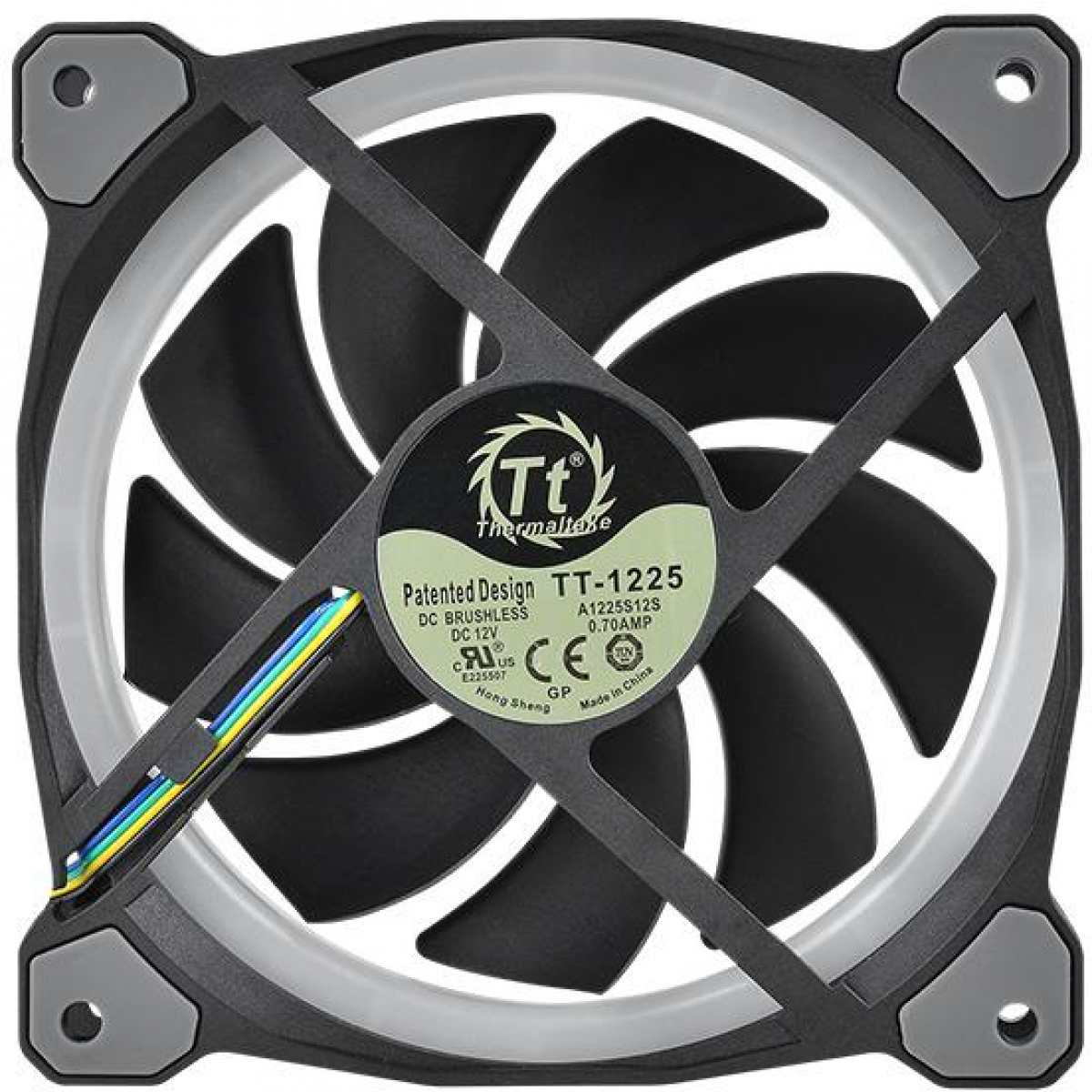Kit Fan com 5 Unidades Thermaltake Riing Plus 14, RGB 140mm, CL-F057-PL14SW-A