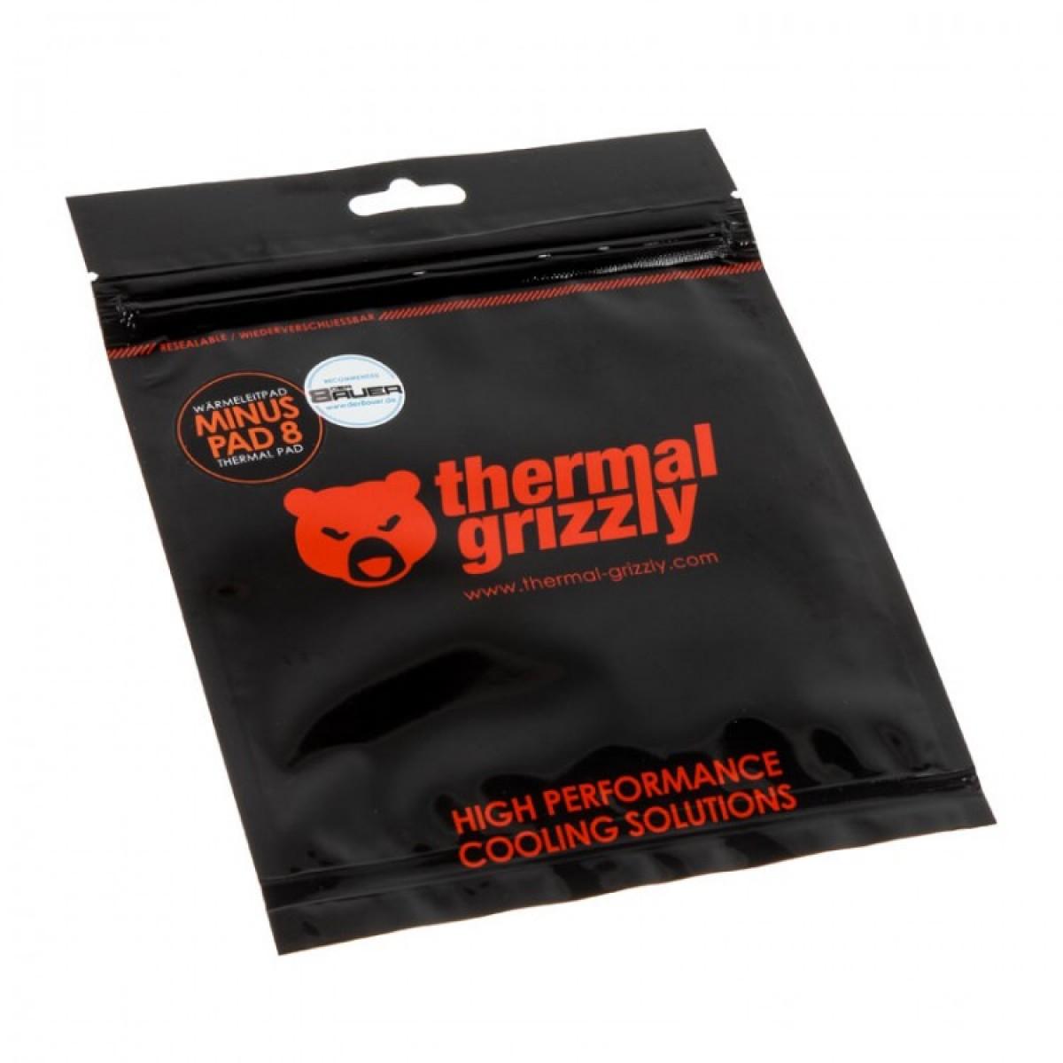 Pad Térmico Thermal Grizzly Minus Pad 8, 120 x 20 x 1 mm, TG-MP8-120-20-10-2R