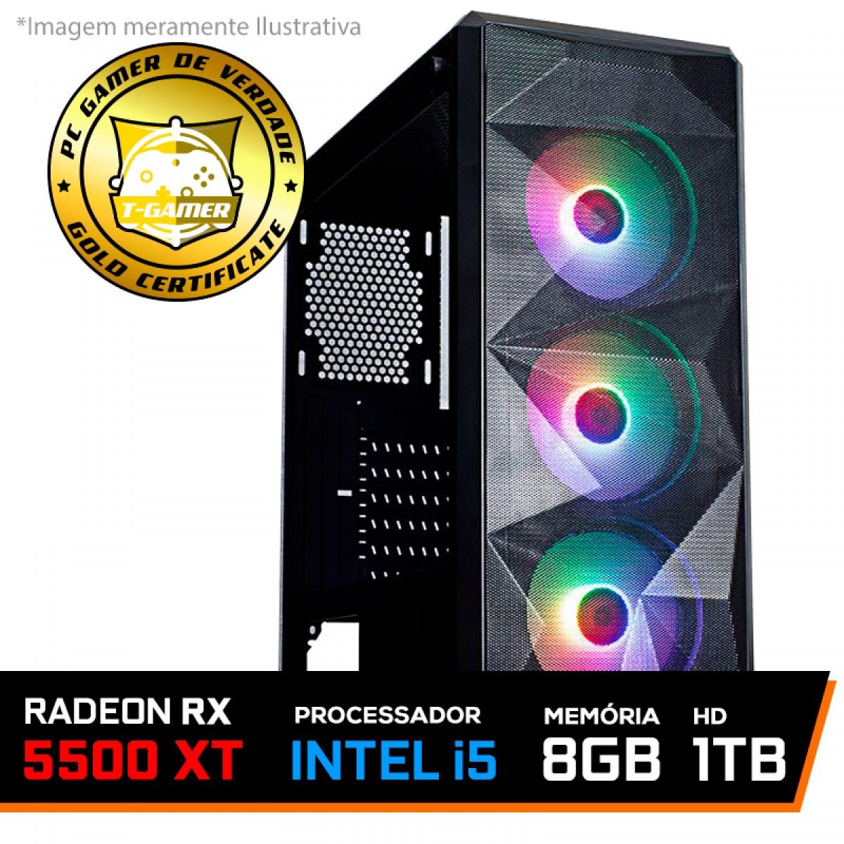 Pc Gamer Tera Edition Intel Core i5 9400F / Radeon RX 5500 XT 8GB / DDR4 8GB / HD 1TB / 600W