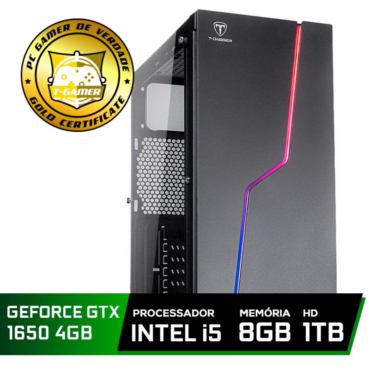 Pc Gamer Tera Edition Intel Core i5 9600K / GeForce GTX 1650 4GB / DDR4 8GB / HD 1TB / 550W