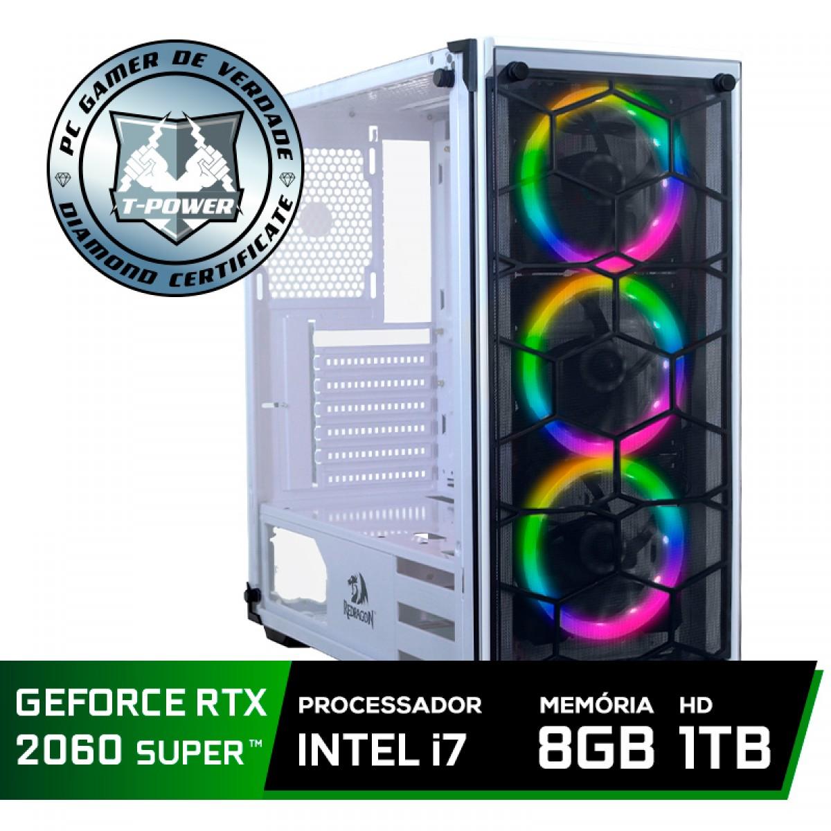 Pc Gamer Tera Edition Intel i7 9700F / Geforce RTX 2060 Super / DDR4 8GB / HD 1TB / 600W