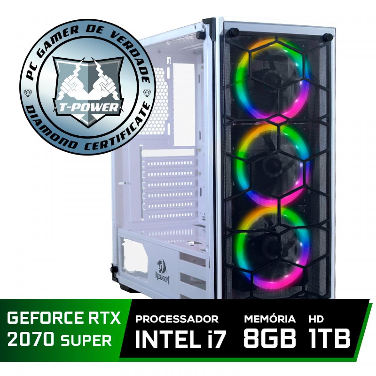 Pc Gamer Tera Edition Intel i7 9700F / Geforce RTX 2070 Super / DDR4 8GB / HD 1TB / 600W
